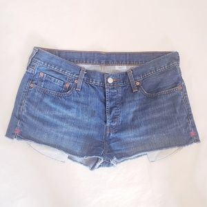 Levi's 501 Cut Off, 4-Button Denim Shorts, Sz 34